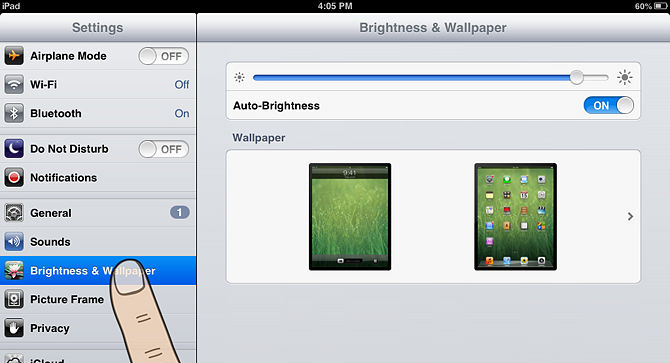 iPad/iPhone - Brilho ecrã