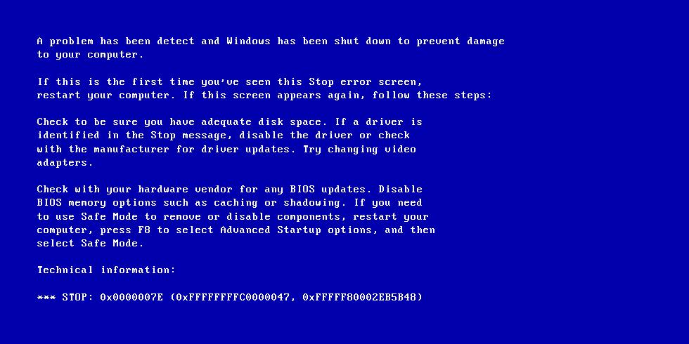 Ecrã azul